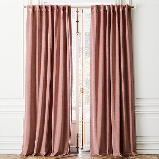Velvet Dusty Orchid Curtain Panel In 2020
