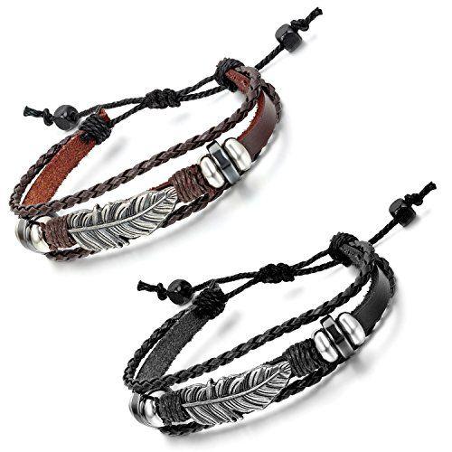 Aroncent 2PCS Herren Damen Armband, Vintage Wickeln Feder... https://www.amazon.de/dp/B01HGCMN7M/ref=cm_sw_r_pi_dp_NvJExbG1EE3NP