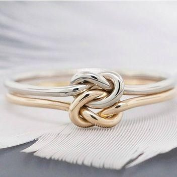 How Your Guy Can Propose If He Doesn T Know Your Taste 12 Placeholder Rings Love Knot Ring Alternative Engagement Rings Knot Ring Promise
