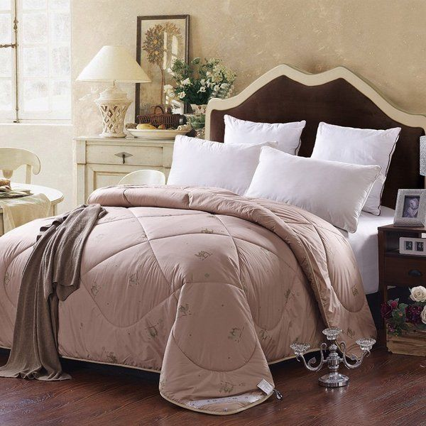 100% Cotton Organic Camel Wool Quilt Blanket Duvet Comforter Queen  Winter Autumn f1a514d21