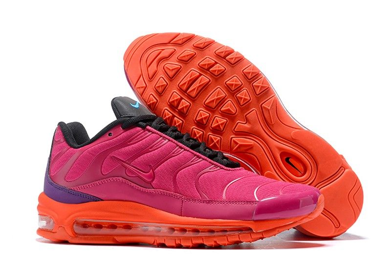 Nike Air Max 97 Plus Men s Running Shoes AH8144-600 Racer Pink Hyper  Magenta-Total Crimson-Black 30e427f6b