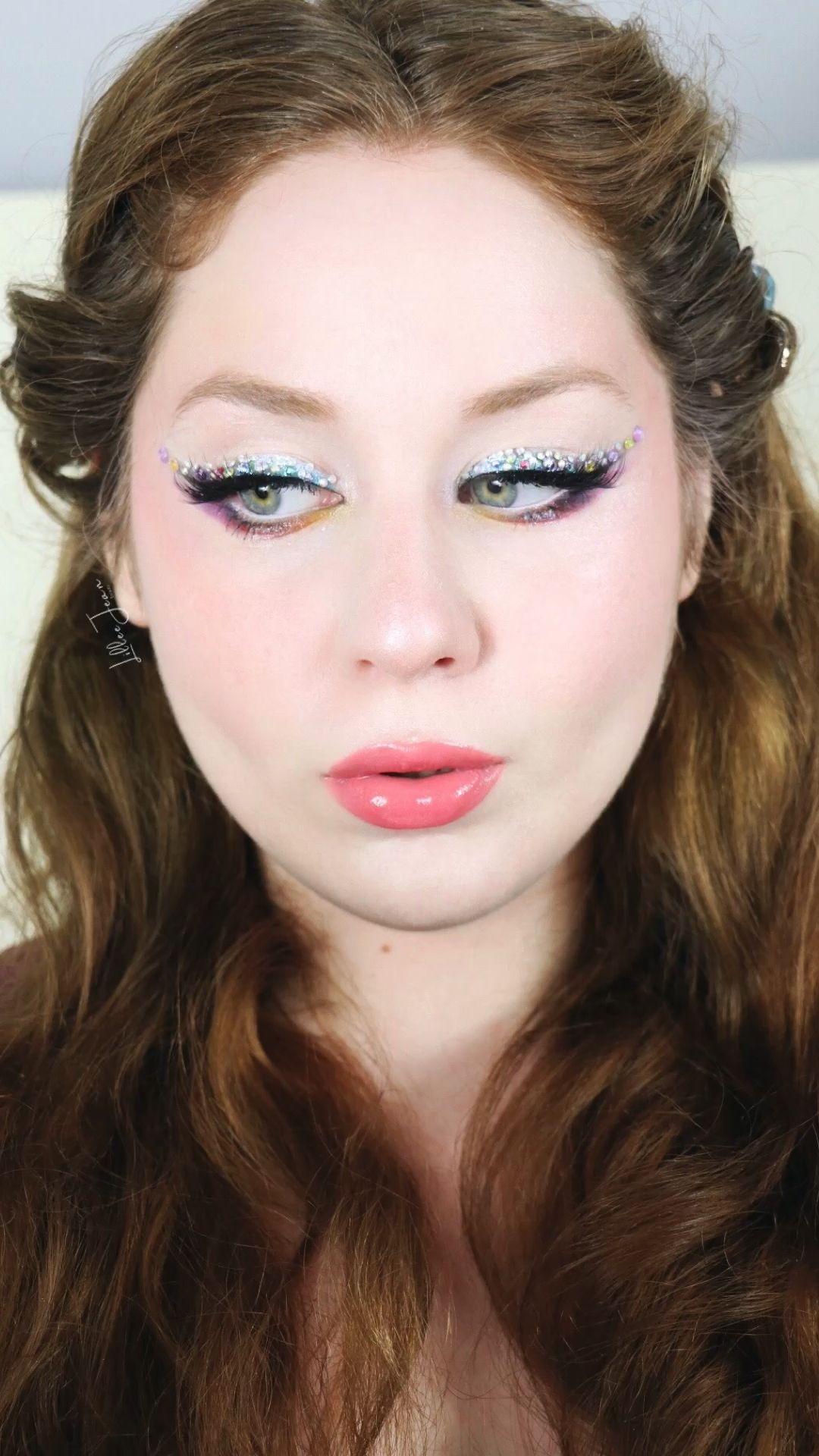 Rhinestone Rainbow Makeup Look By Lillee Jean