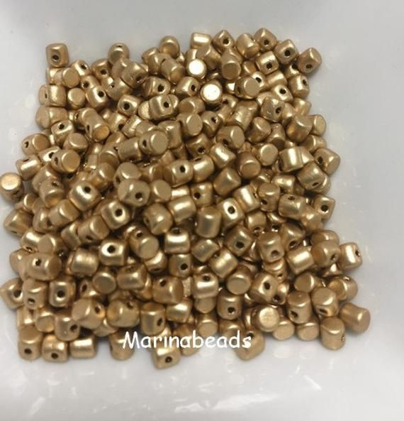 Minos par Puca 10g Light Gold Matt by MarinaBeads06