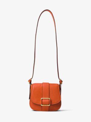 bcf53956714fd MICHAEL MICHAEL KORS Maxine Medium Leather Saddlebag.  michaelmichaelkors   bags  leather  lining  travel bags  weekend  polyester
