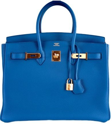 f3c40120fe Hermes Birkin Bag in Cobalt Blue