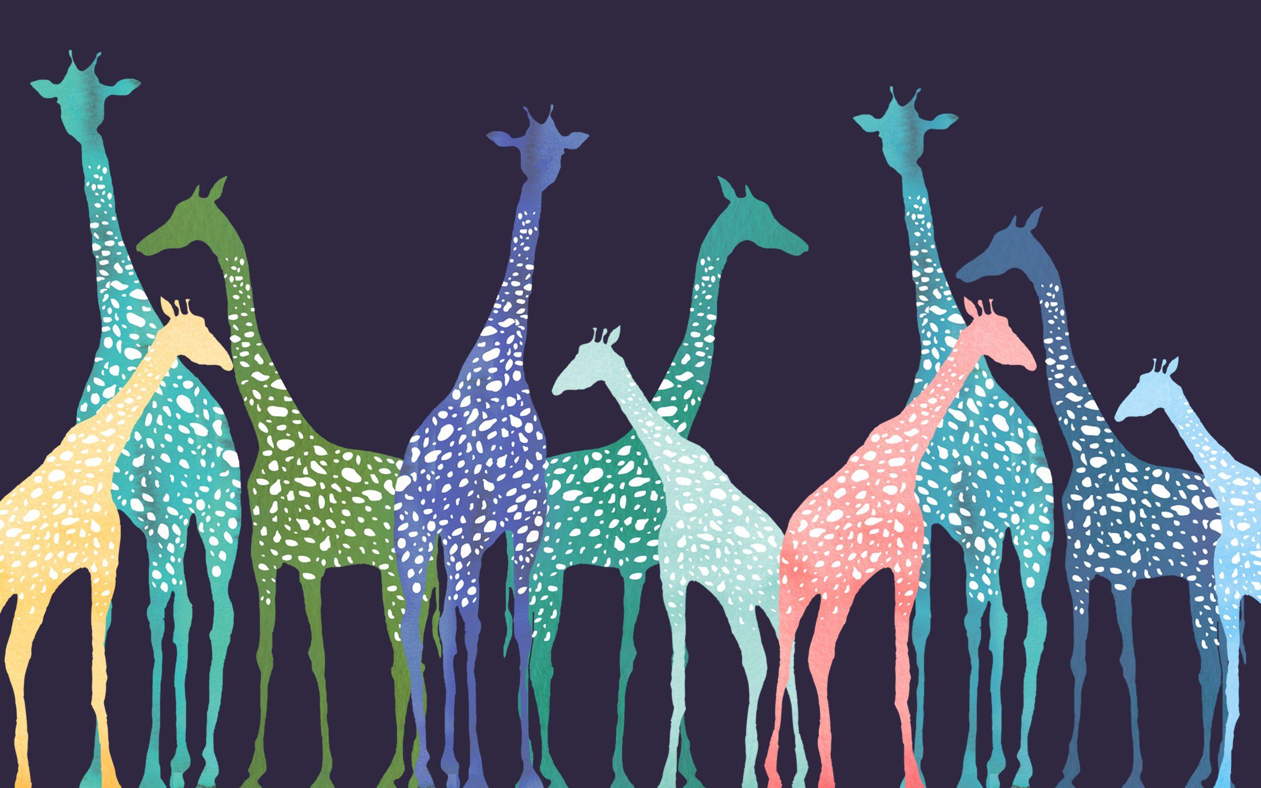 Simple Giraffes Desktop Backgrounds Macbook Wallpaper Trendy Wallpaper Giraffe Throw Pillow