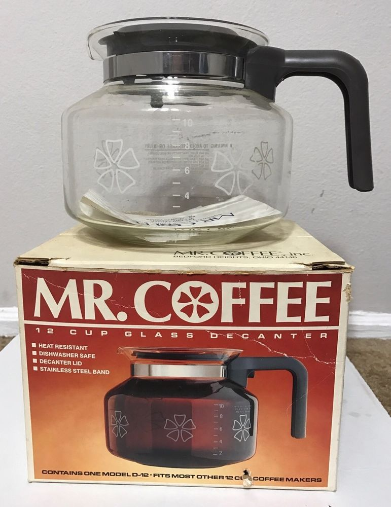 Vintage Mr. Coffee 12 cup Replacement Glass Decanter