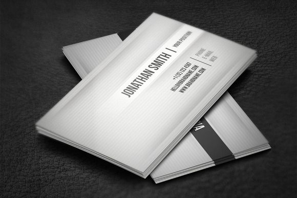 Gray Business Card By Artnook On Creative Market
