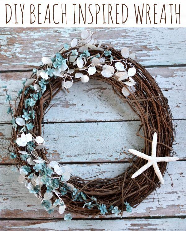 DIY Beach Inspired Wreath - Pretty My Party
