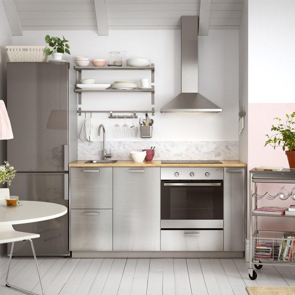 petit espace kitchenette cuisine metod et facades grevsta ikea kitchenette petits espaces. Black Bedroom Furniture Sets. Home Design Ideas
