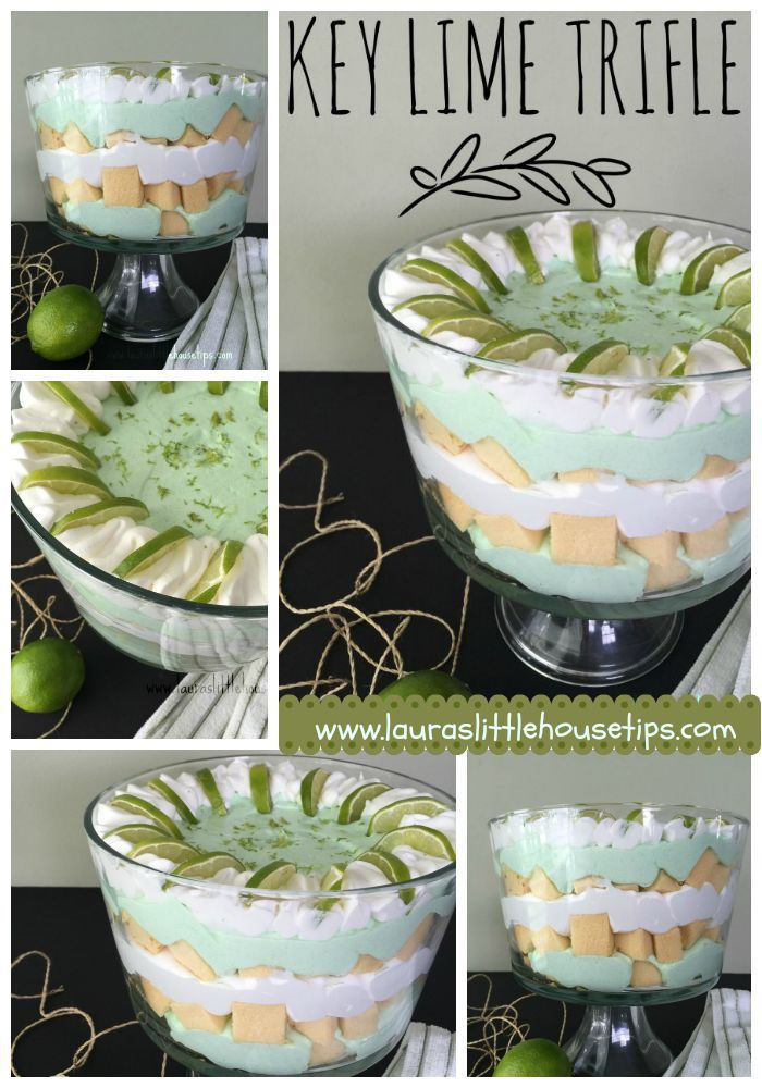 15 Minute Key Lime Trifle   http://lauraslittlehousetips.com/15-minute-key-lime-trifle/