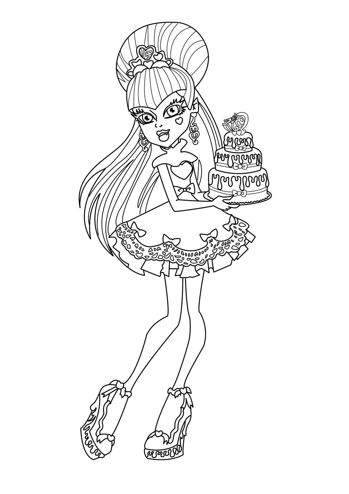 Pin by Nathan Newb on Monster High stencils Birthday