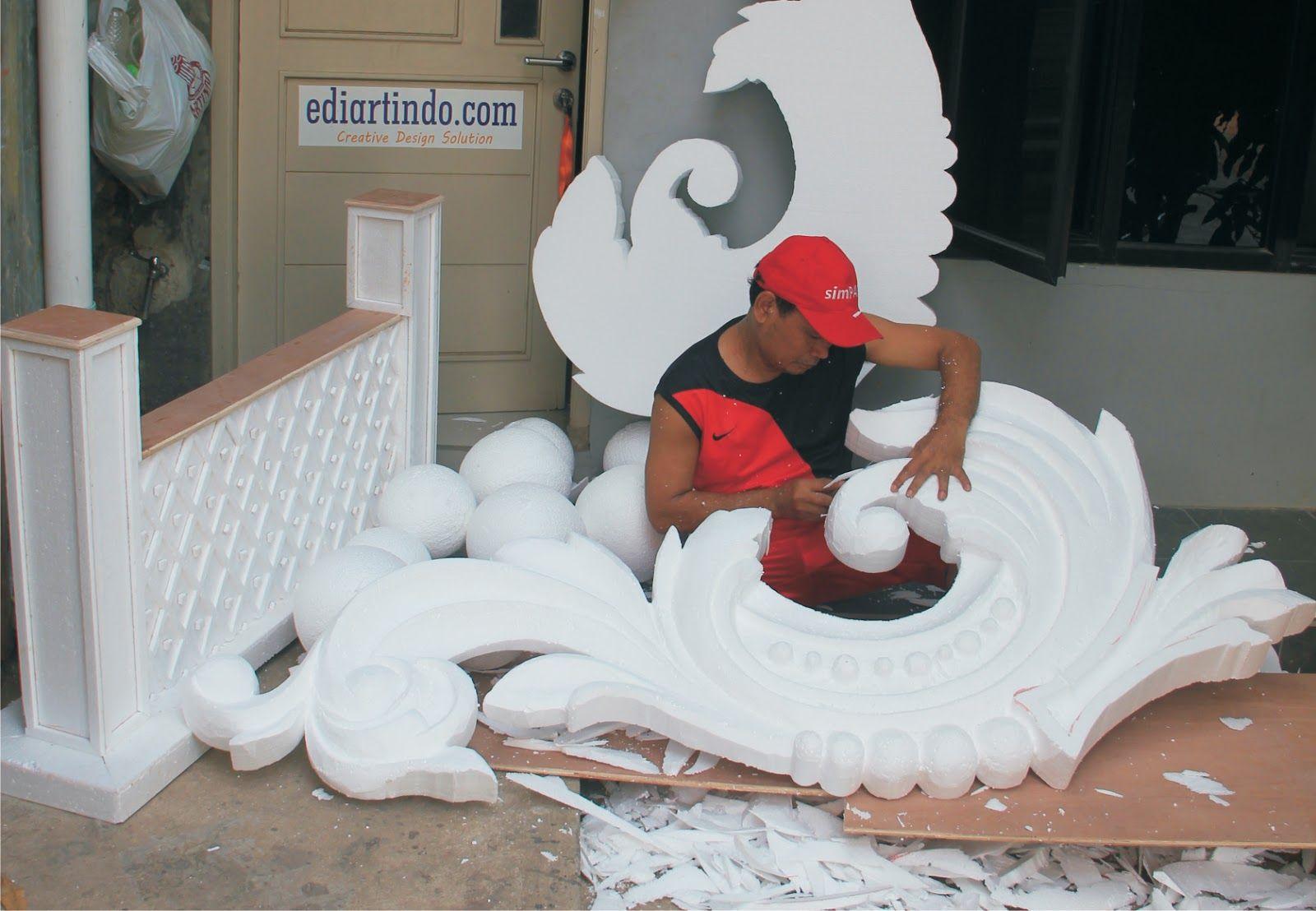 Proses Pembuatan Art Styrofoam Art
