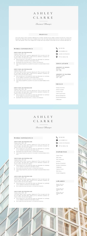 Professional Resume Design Resume Template Ashley Clarke Resume Design Professional Resume Design Resume Design Template