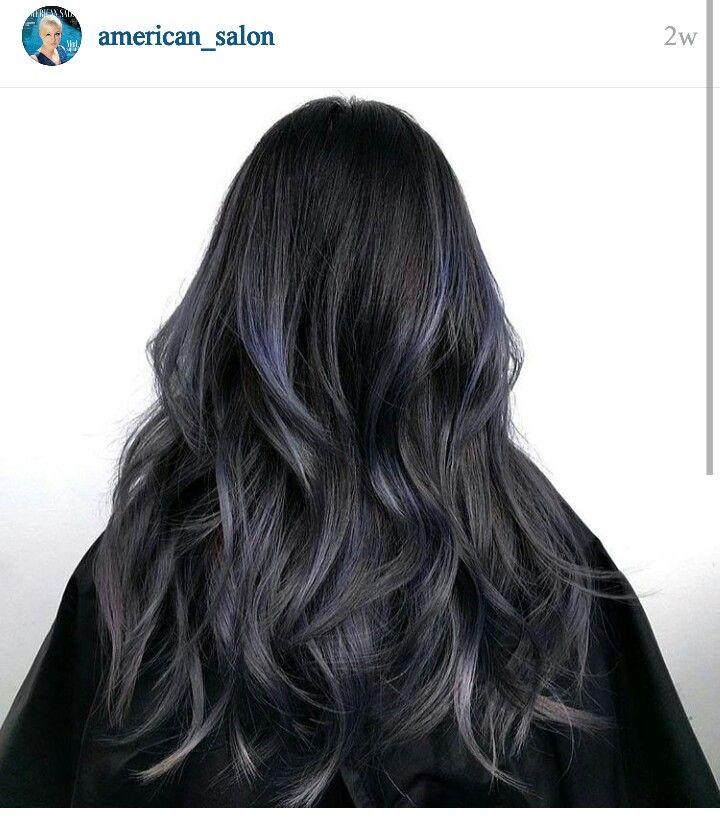 beautiful dark hair subtle metallic