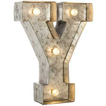 galvanized marquee lighted letter y hobby lobby