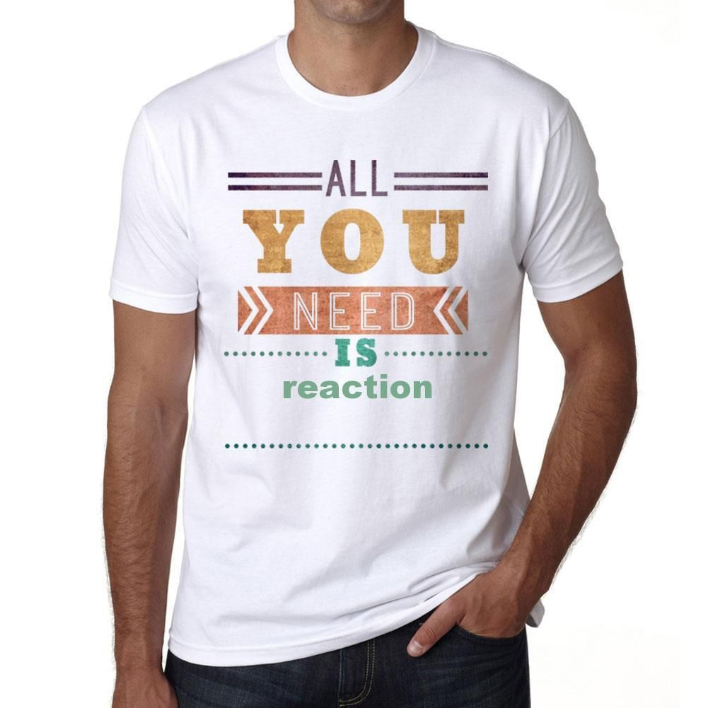 reaction, Men's Short Sleeve Rounded Neck T-shirt