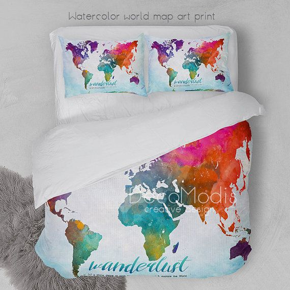 Stlentine sale wanderlust watercolor world map art by decomodis stlentine sale wanderlust watercolor world map art by decomodis gumiabroncs Image collections