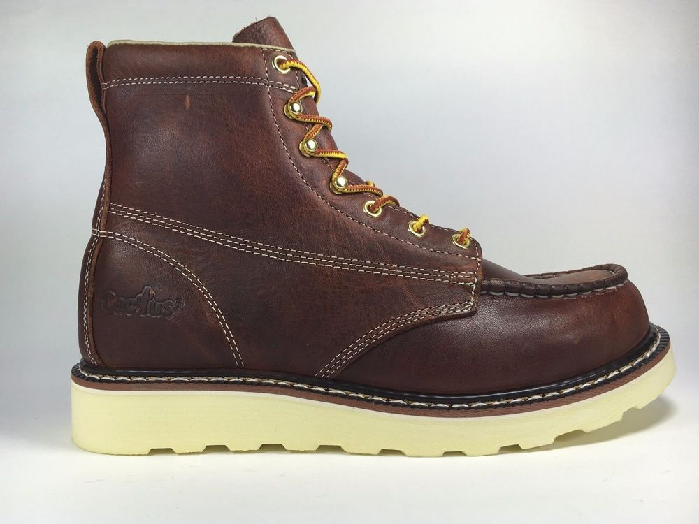 5dfeb1d7c5e CACTUS WORK BOOTS 6070M BROWN 100% LEATHER LIGHT WEIGHT NO STEEL TOE NEW IN  BOX  fashion  clothing  shoes  accessories  mensshoes  boots (ebay link)
