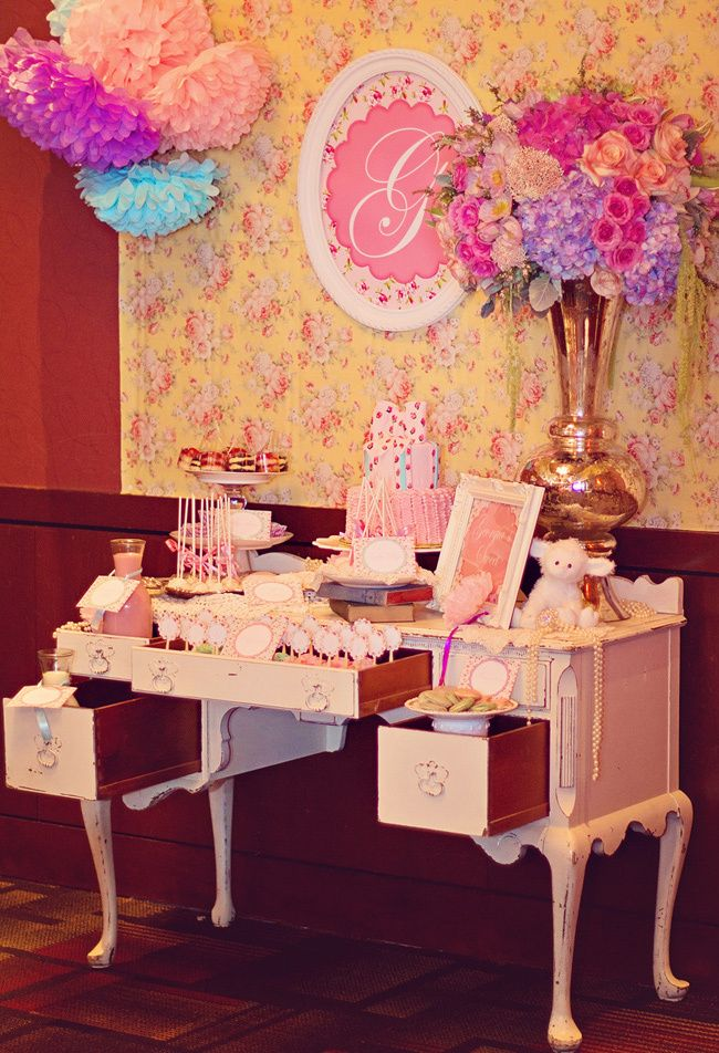 Vintage Victorian Little Girls Birthday Party featured on THE BUMP