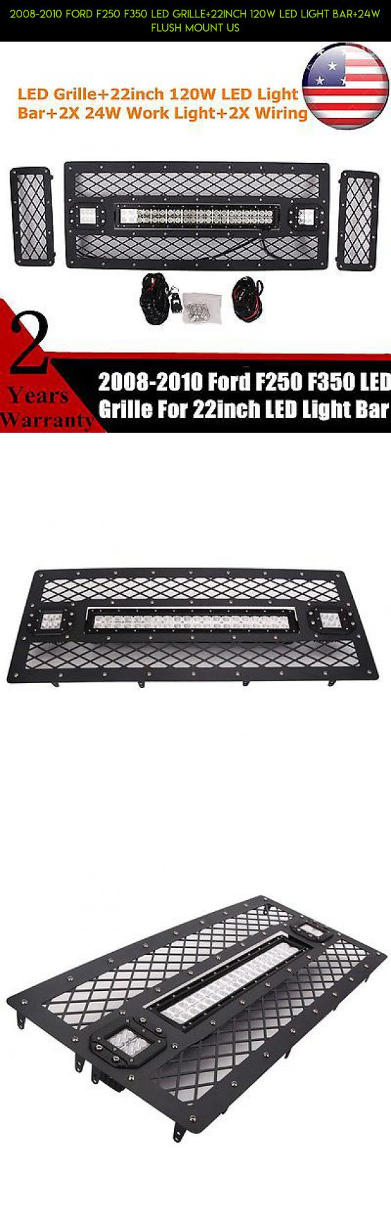 2008 2010 Ford F250 F350 Led Grille 22inch 120w Light Bar 24w Wiring Harness