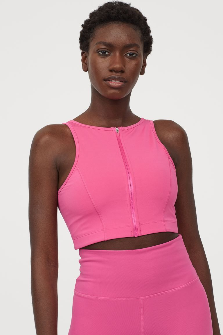 Padded sportbralette Roze DAMES H&M NL in 2020