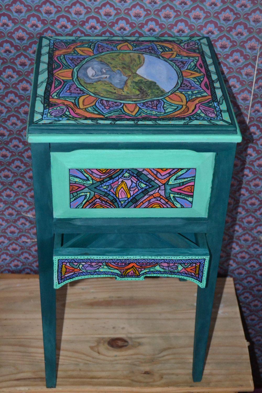 Secret Stash Side Table Painted Furniture от NirgunaFurnishings