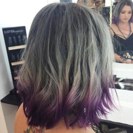 Image Result For Blue Tipped Short Brown Hair Dip Dye Haar Haarideeen Donkerbruin Haar