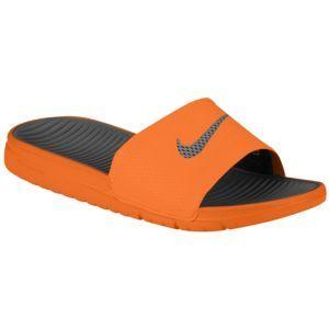 low priced 7ee72 389e6 Nike Benassi Solarsoft Slide - Men s - Total Orange Sport Grey