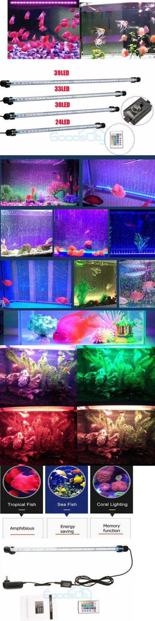 Rgb Led Fish Tank Light Aquarium Waterproof Bar Submersible Lamp Remote Control Fish Tank Lights Fish Tank Rgb Led