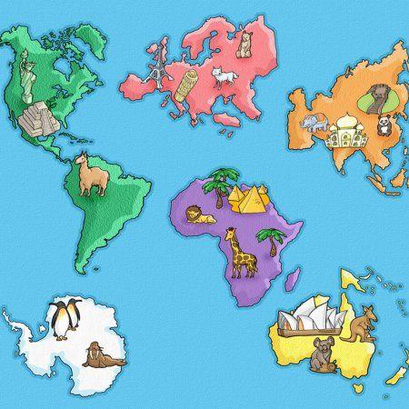 Poesia Amigos Del Mundo Infantil En Sek Alboran Geografia Para Ninos Los Continentes Para Ninos Mapas Para Ninos