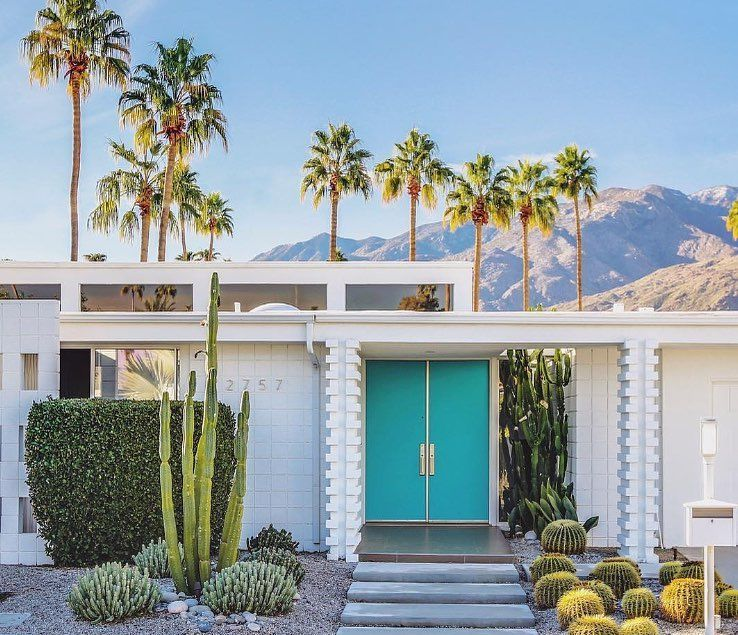We Ve Brought Palm Springs To Byron For You Stay With Us At Bask Stow To Feel A B Palm Springs Houses Palm Springs Architecture Palm Springs Interior Design
