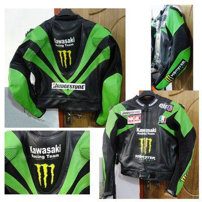 Motorcycle Sportbike Motogp Kawasaki Leather Jacket Motorcycle Leather Jacket Jaket Motor Motogp Jaket