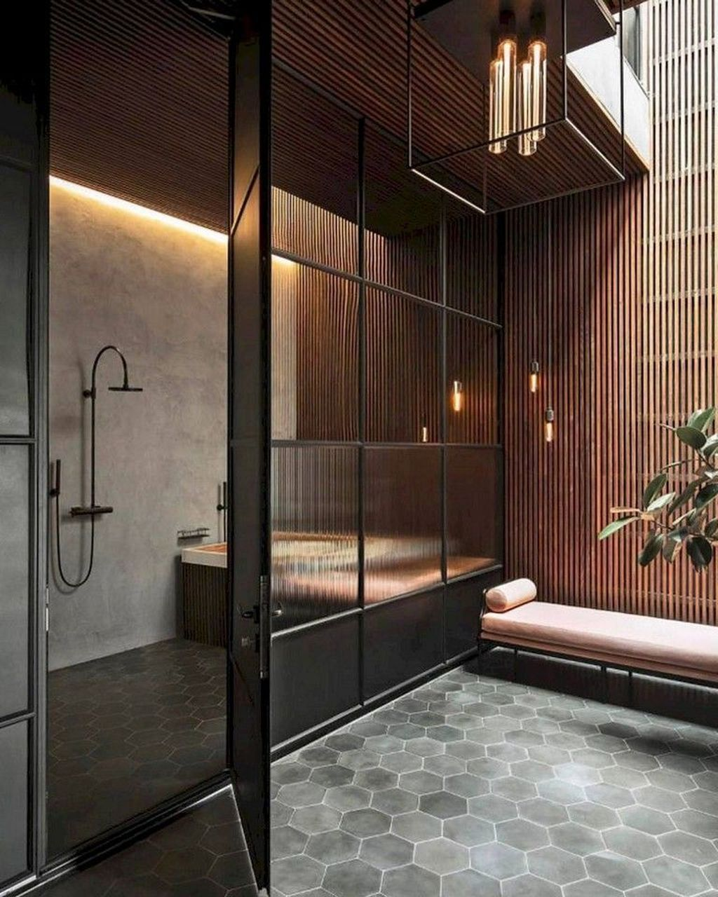 32 Stunning Industrial Bathroom Design Ideas Cuarto De Bano Moderno Casas De Ensueno Moderno Y Minimalista