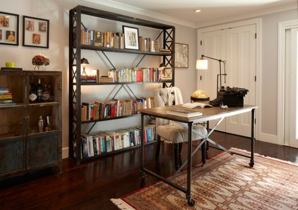 Industrial Home Office Designs For A Simple And Professional Look