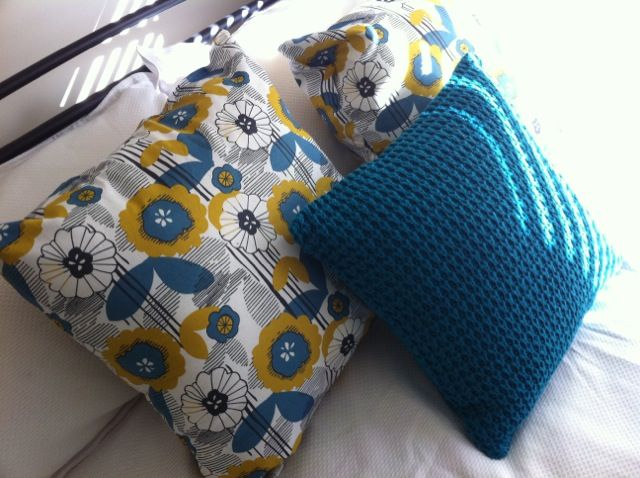 Some Cushions I made a couple of weeks ago with scrap material I had(minus the blue one) :)
