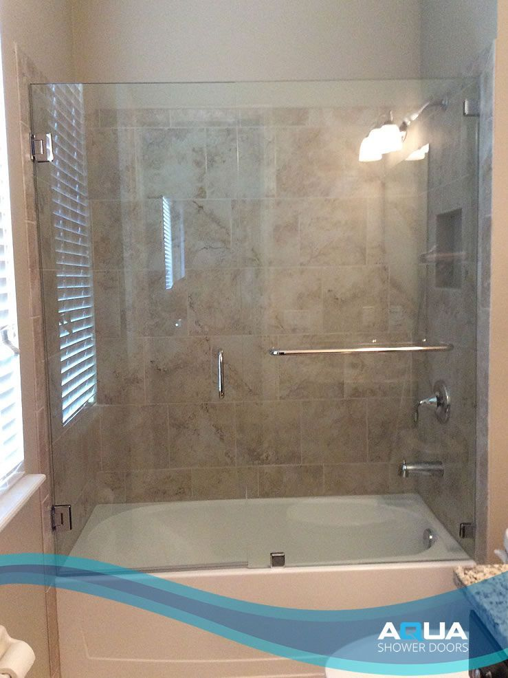 """Popular 3 8"""" Clear Glass Frameless Inline Shower Door and Panel Tub Top Search - Contemporary bathroom remodeling sarasota Amazing"""