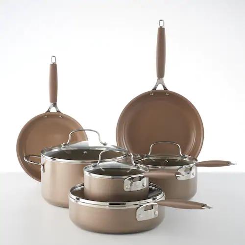 Food Network 10 Pc Nonstick Ceramic Cookware Set In 2020 Ceramic Cookware Set Ceramic Cookware Copper Cookware Set