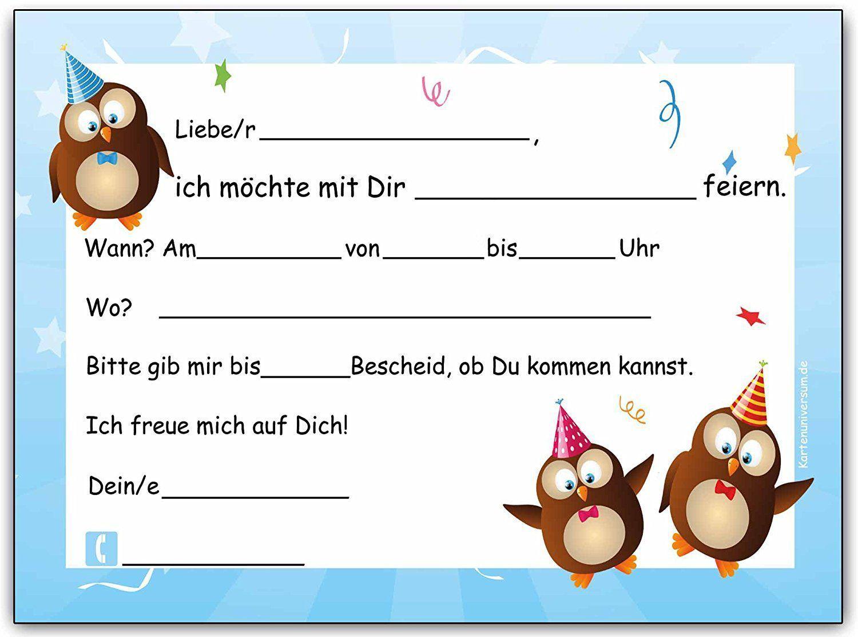 Einladungskarten Geburtstag Kinder Einladungskarten Geburtstag