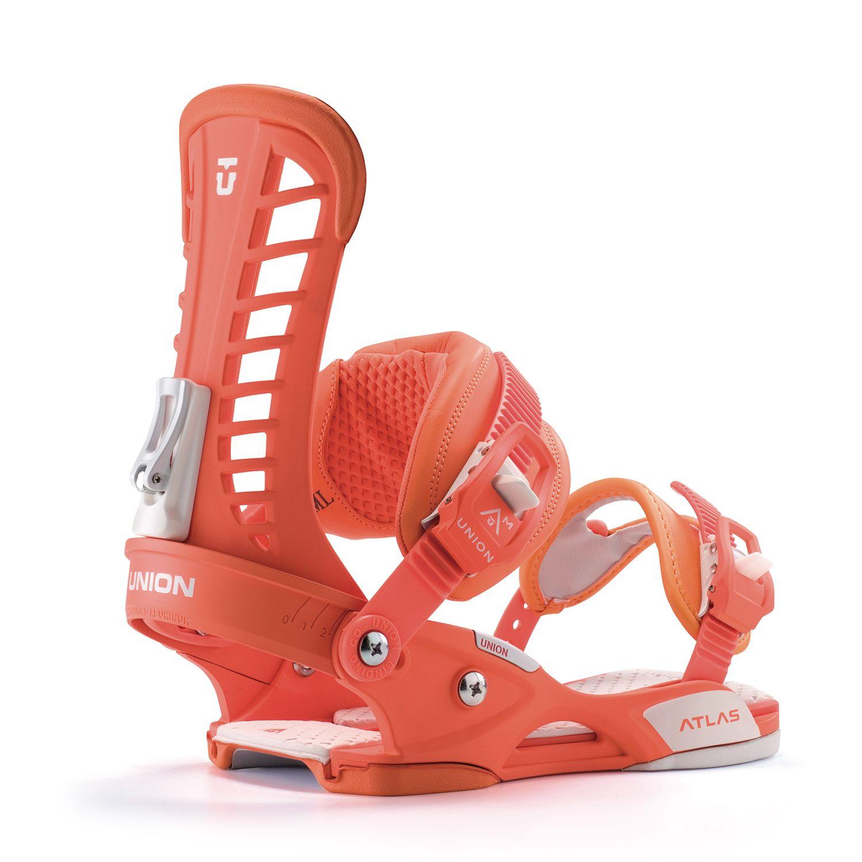 Union Atlas Orange Snowboard Bindings Snowboard Snowboarding Gear