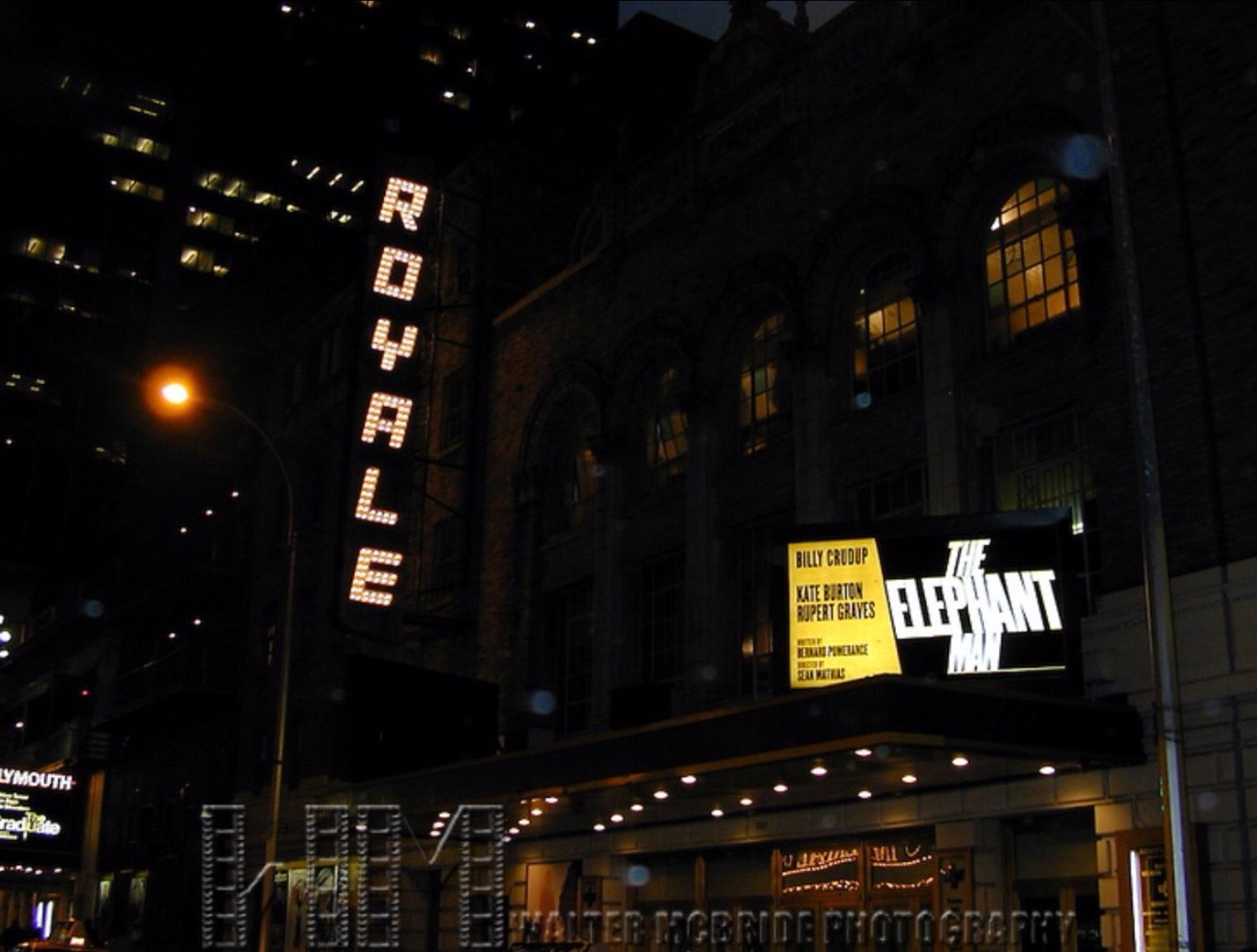 Broadway marquee The Elephant Man revival Royale Theatre