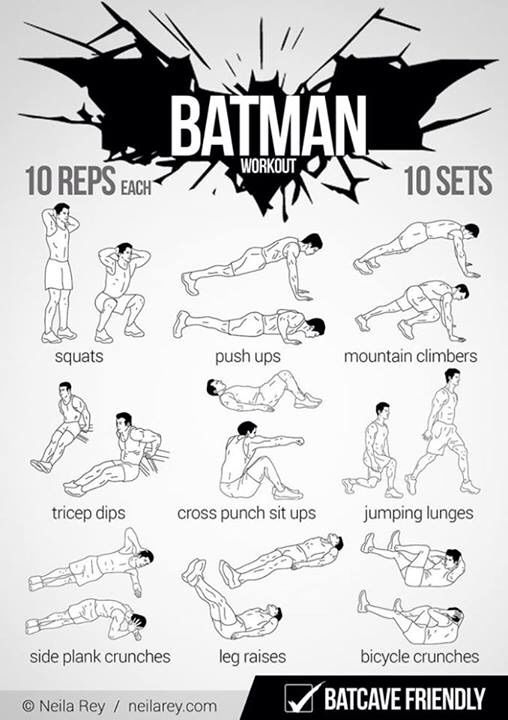 Bruce Wayne Daily Workout At Home