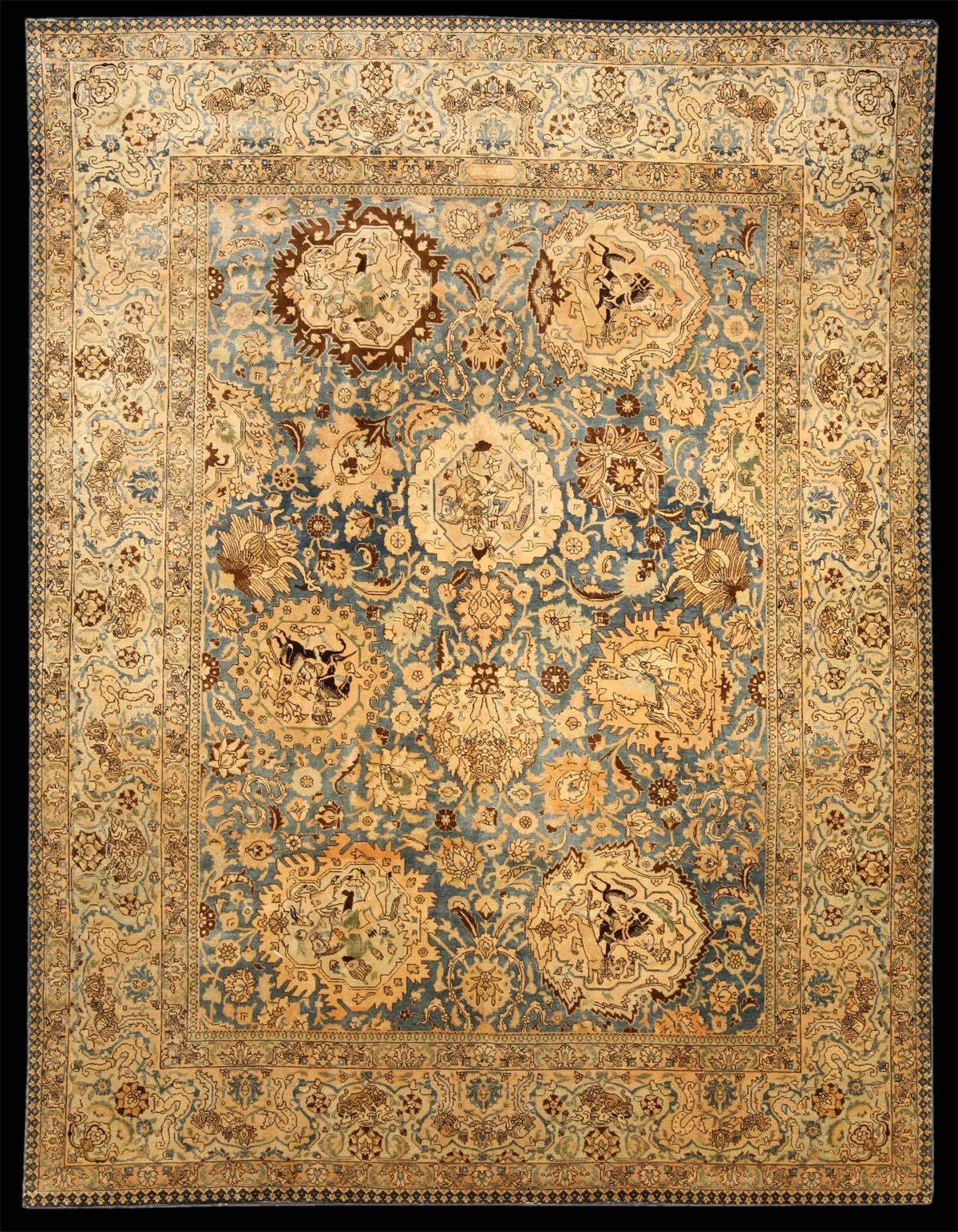 Nice Antique Tabriz Rugs   Antique Tabriz Pictorial Rug, Azerbaijan, NW Iran