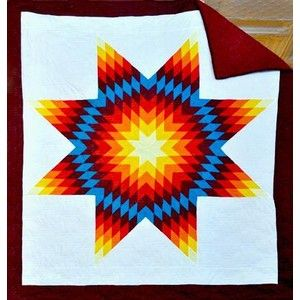 hand embroidery bedspread native design idea- would be amazing ... : star quilts native american - Adamdwight.com