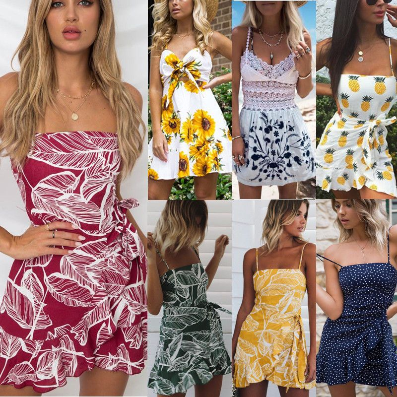 d5c37e8f8810 NEW Women Summer Casual Sleeveless Evening Party Cocktail Beach Short Mini  Dress