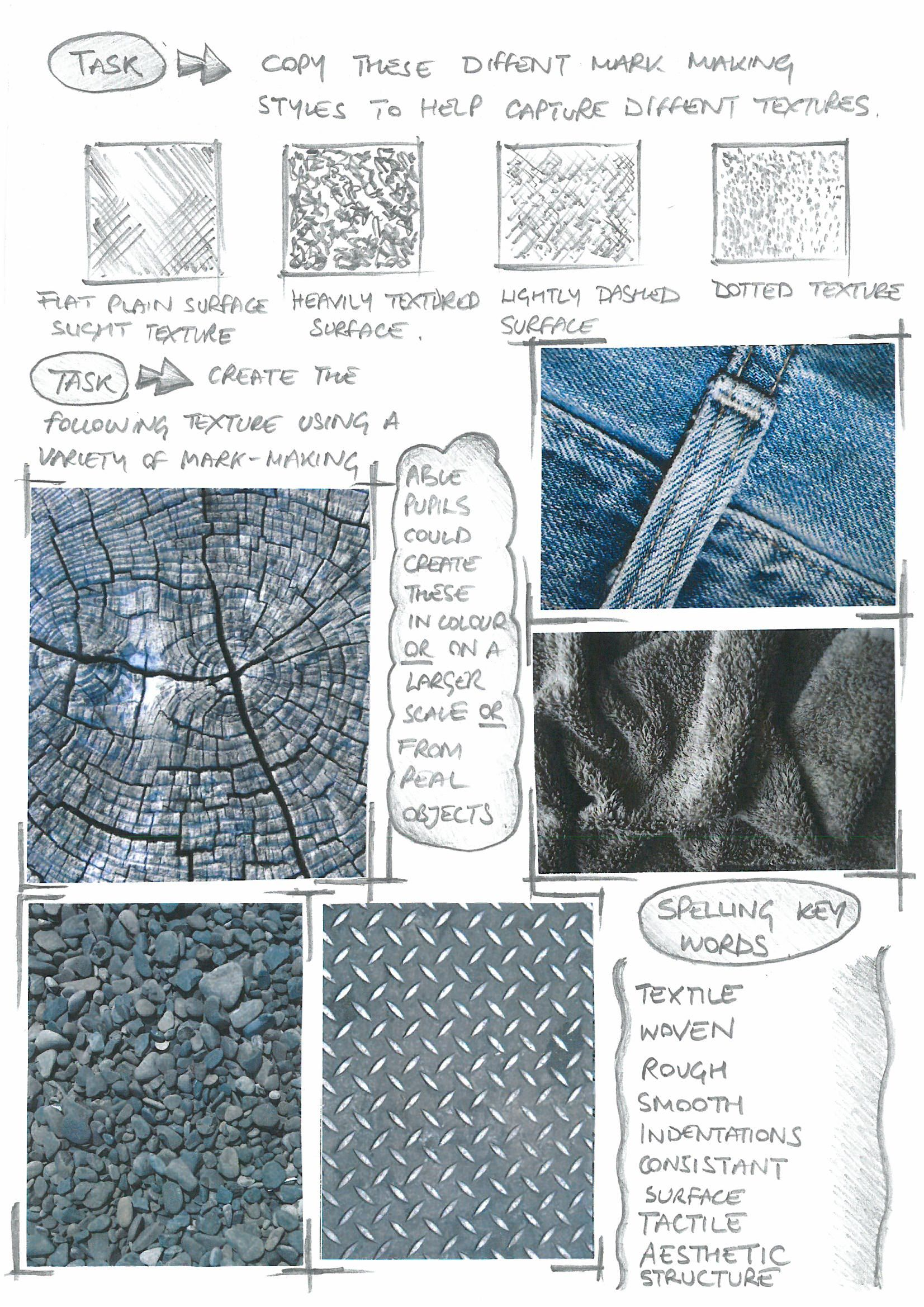 Textures Homework Page 2