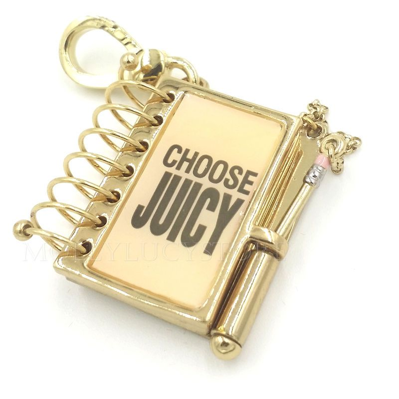 Juicy couture pink notebook charm for bracelet necklace cute and juicy couture pink notebook charm for bracelet necklace cute and rare aloadofball Gallery