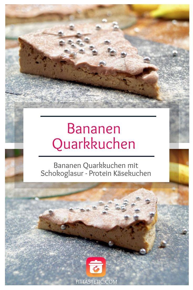 Bananen Quarkkuchen mit Schokoglasur selber machen leicht gemacht! Protein Bananen Käsekuchen oder a...