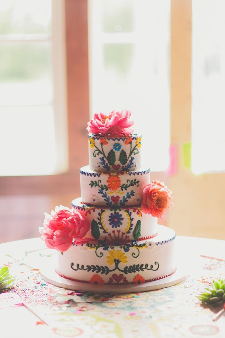 mexican inspired wedding cake from the knot.com