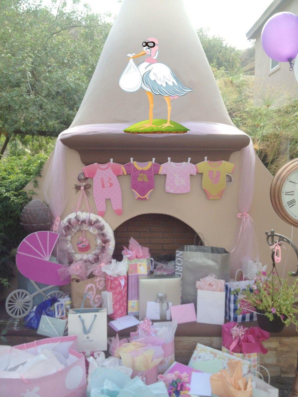 Baby shower stork prop set baby shower baby shower